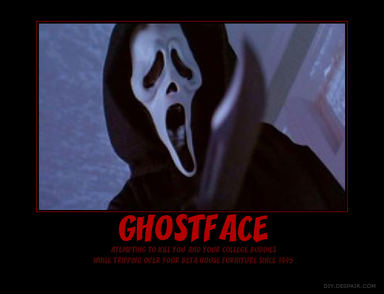 Ghostface Motivational Poster by ResidentShockHound