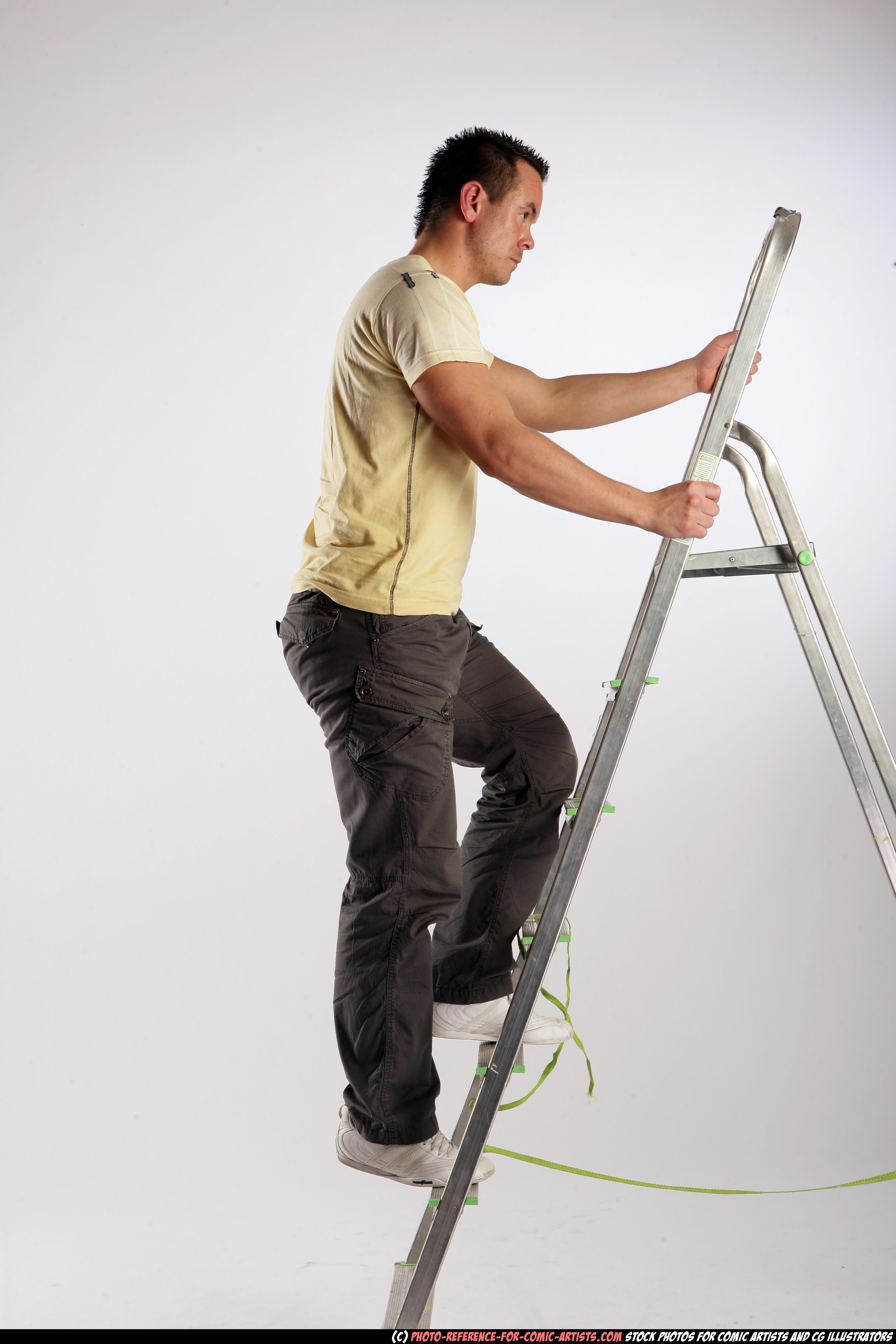 Johnny - using ladder