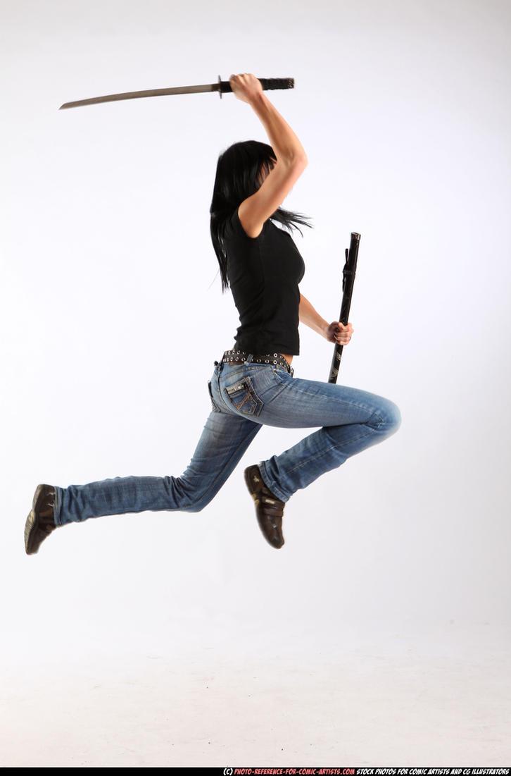 Silvia - jump, smash, katana by comicReference
