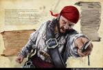 Pirate from the book Pirati