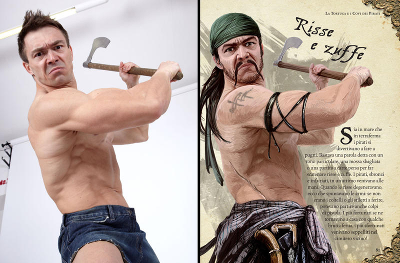 using photo references  pirate  by comicreference on  using photo references pirate 1 by comicreference