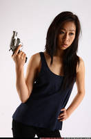Gorgeous Asian Holding A Gun by comicReference