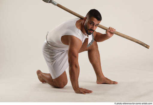 01 2019 01 Atilla Kneeling Pose With Spear
