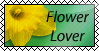 Flower Lover Stamp by Palanteer
