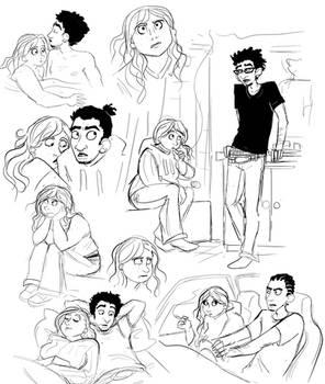 Jeordie and Beth sketches