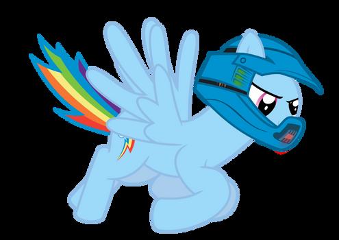Rainbow Dash Pretending to be Master Chief