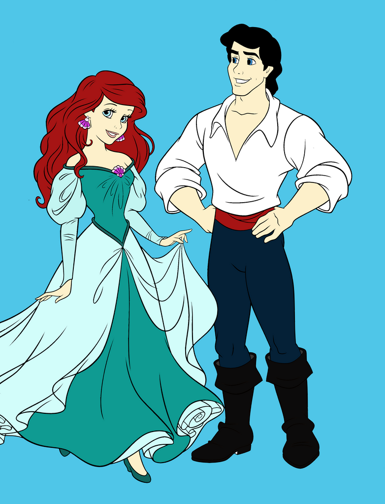 Ariel and Prince Eric by GothicBellydancer on DeviantArt