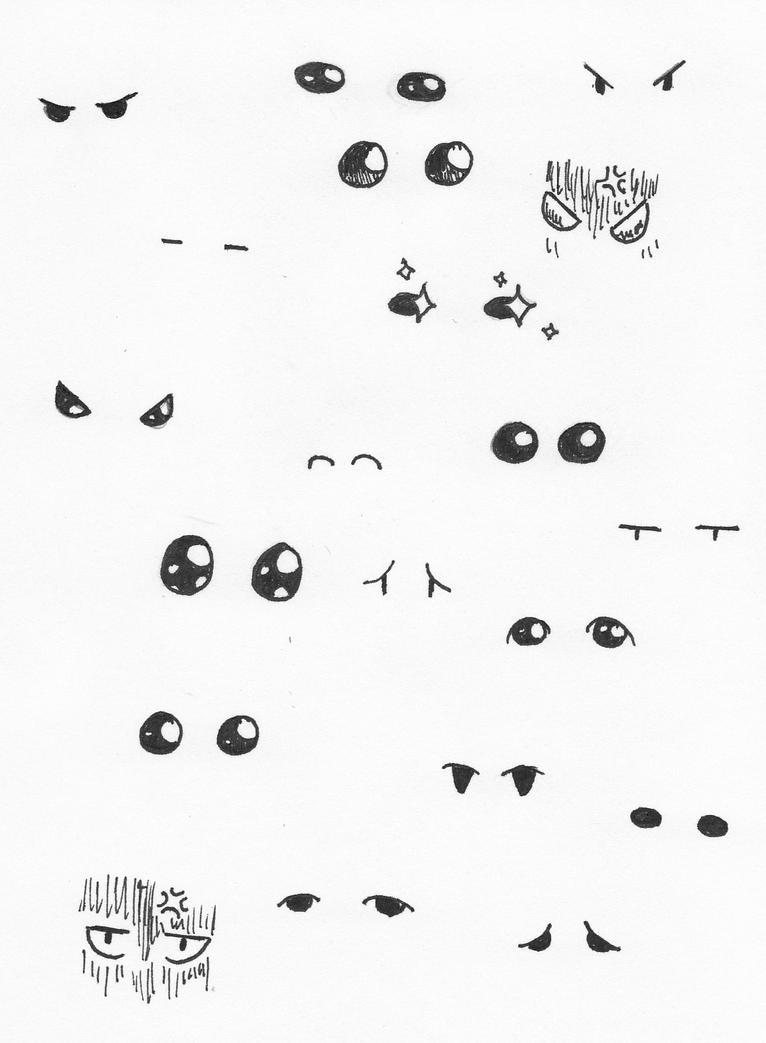 20 Chibi Eyes By Babyunicornart