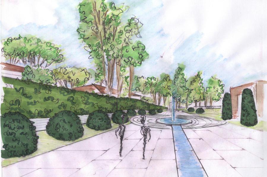 Landscape Architectural Sketches Landscape Sketches 1c by