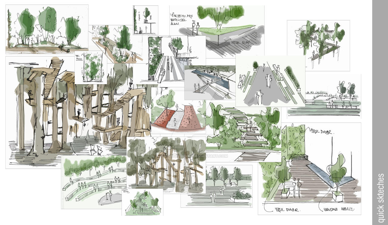 Landscape sketches 6 by gokchi83 on deviantart for Garden design sketches
