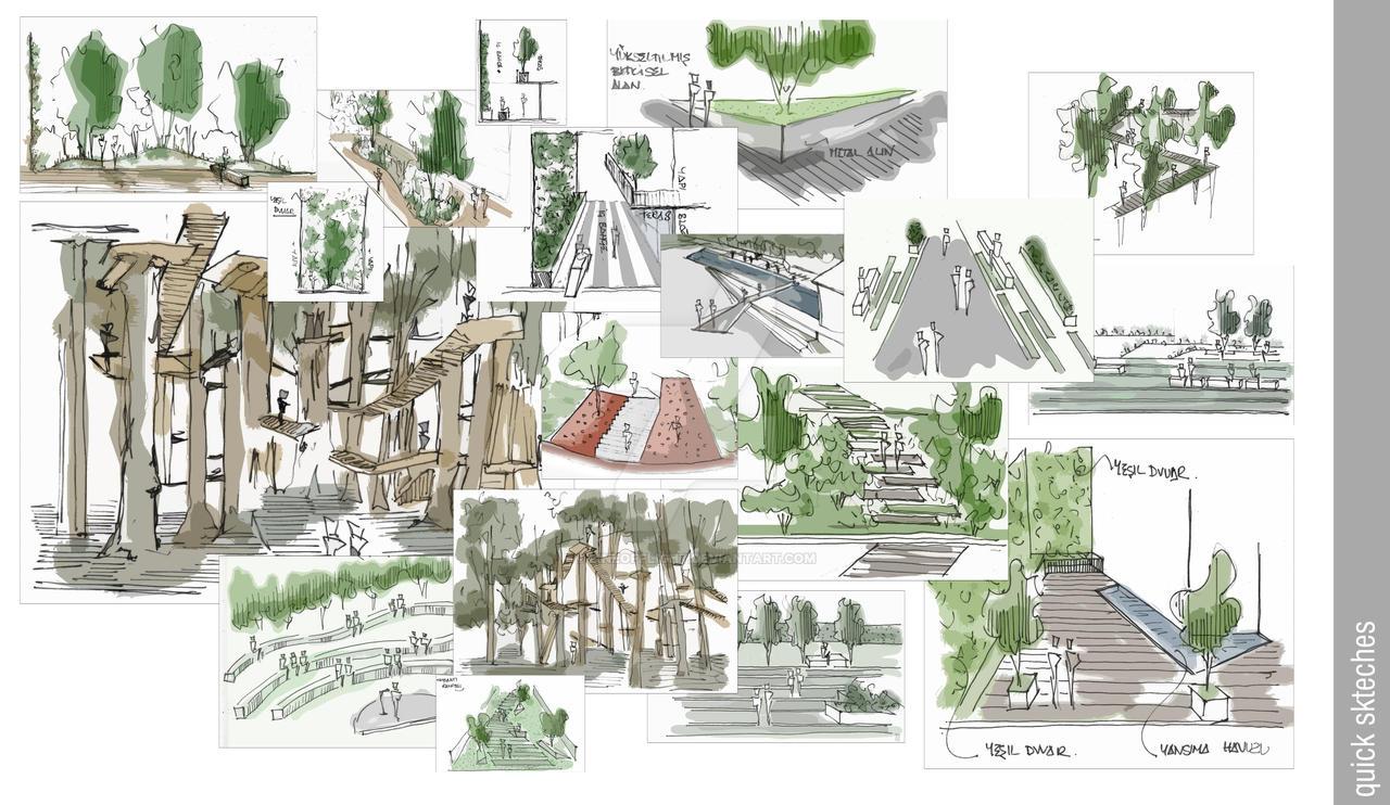 Landscape Sketches - 6 by gokchi83 on DeviantArt