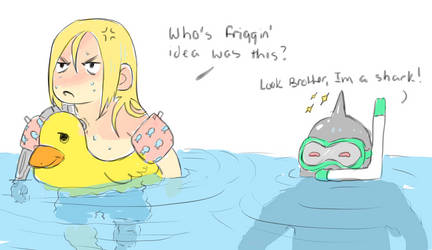 Ed And Al Go Swimming by Astrappingyoungman