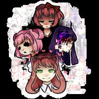 Doki Doki Literature Club Sticker