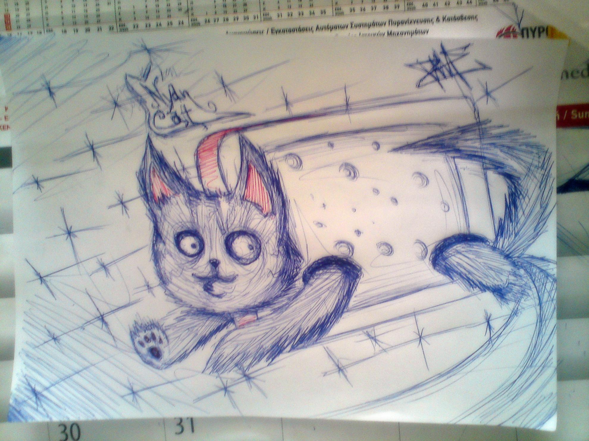3D nyan cat draw by SniperFameVeroia