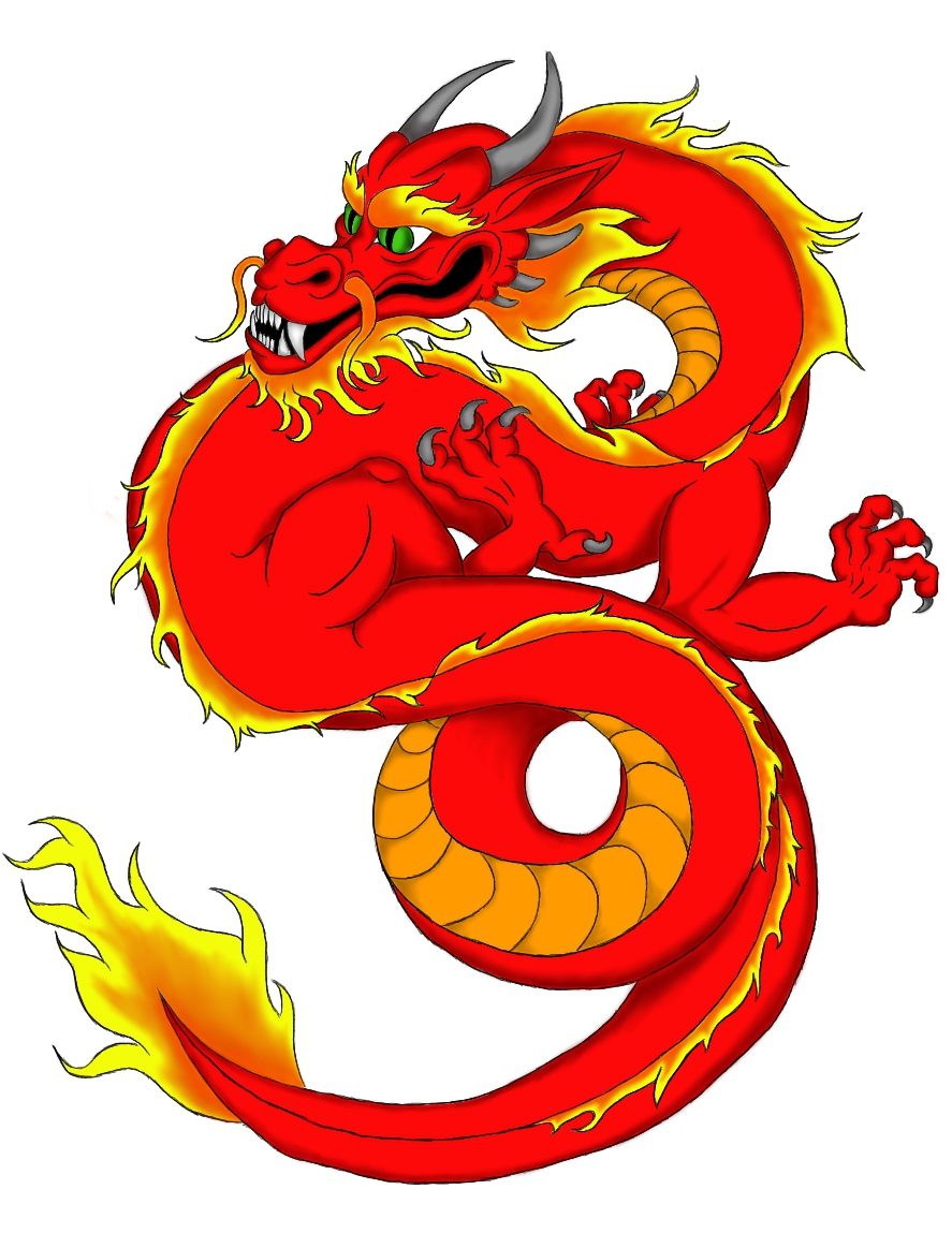 Chinese Dragon - Red by crazygalemt on DeviantArt