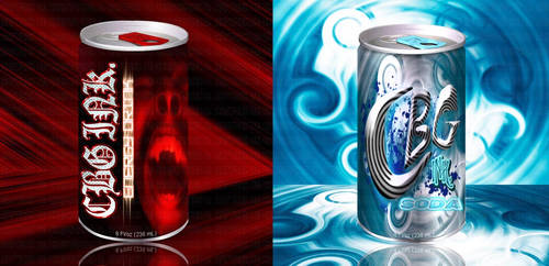 CBG INK soda can designs pt1 by CBGINK