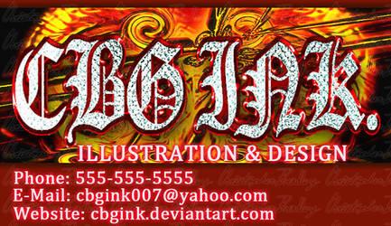 CBG Ink Hellzone Card by CBGINK