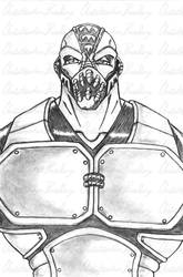 Bane sketch :what are you looking at? by CBGINK