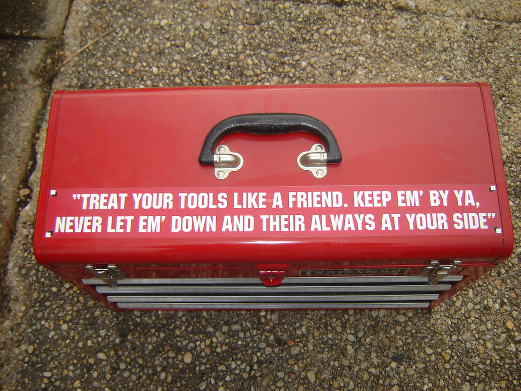 My Tool Box with Super Mario Bros. movie quote by SJRT