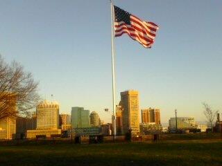 Baltimore: Federal Hill American Flag (Dawn) by SJRT