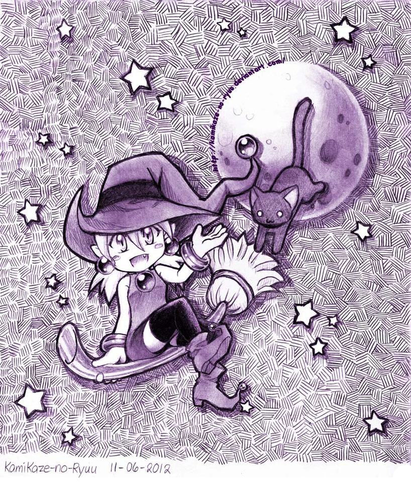 Happy Halloween from a Cute Witch by KamiKaze-no-Ryuu