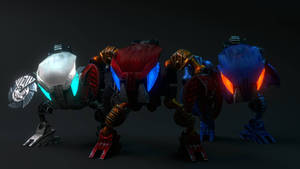 [Bionicle Heroes]  Bohrok team 1/2