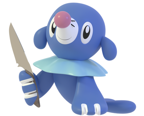Popplio and... knife?