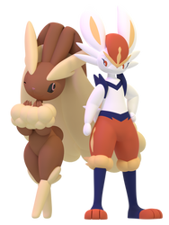 Galar and Sinnoh bunnies