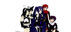 Sian Hanoshi With her Friends. by Hisutaekon