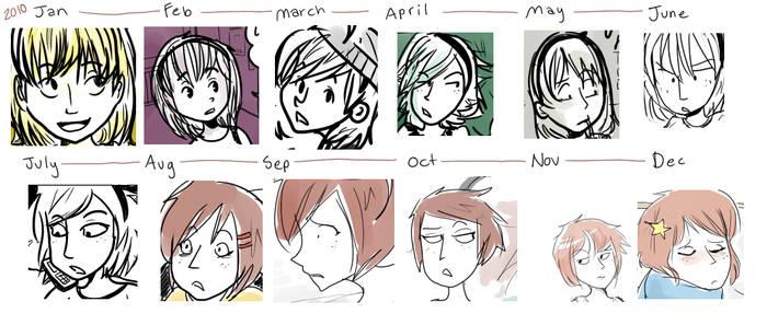 How I Drew Myself -- 2010