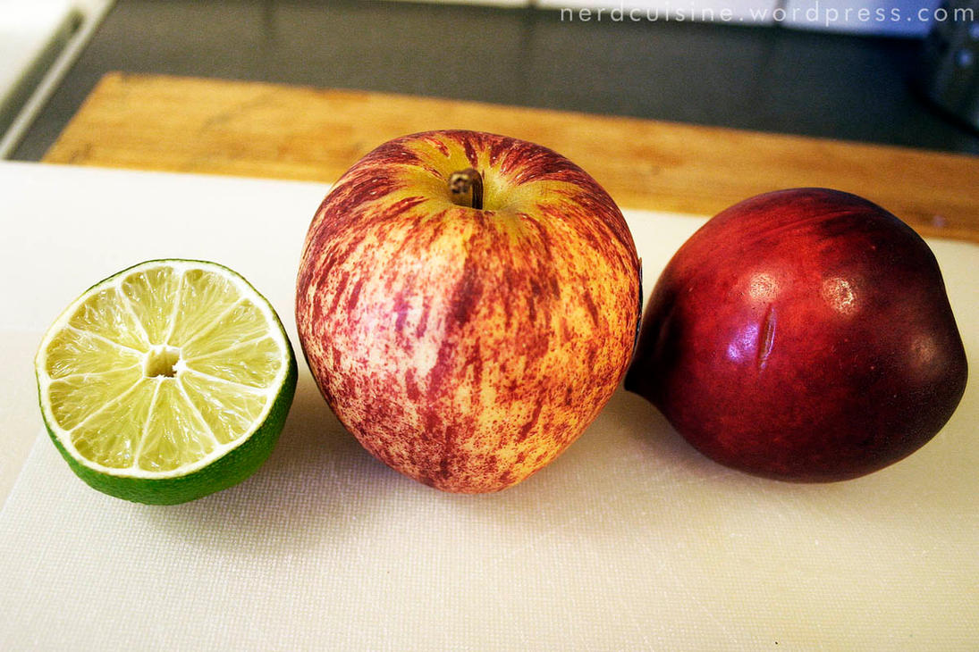 Lime, Apple, Nectarine by oskila on DeviantArt