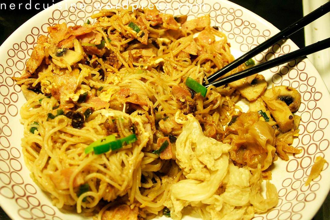 Improvised Noodle Dish with Ssamjang and Kimchi by oskila