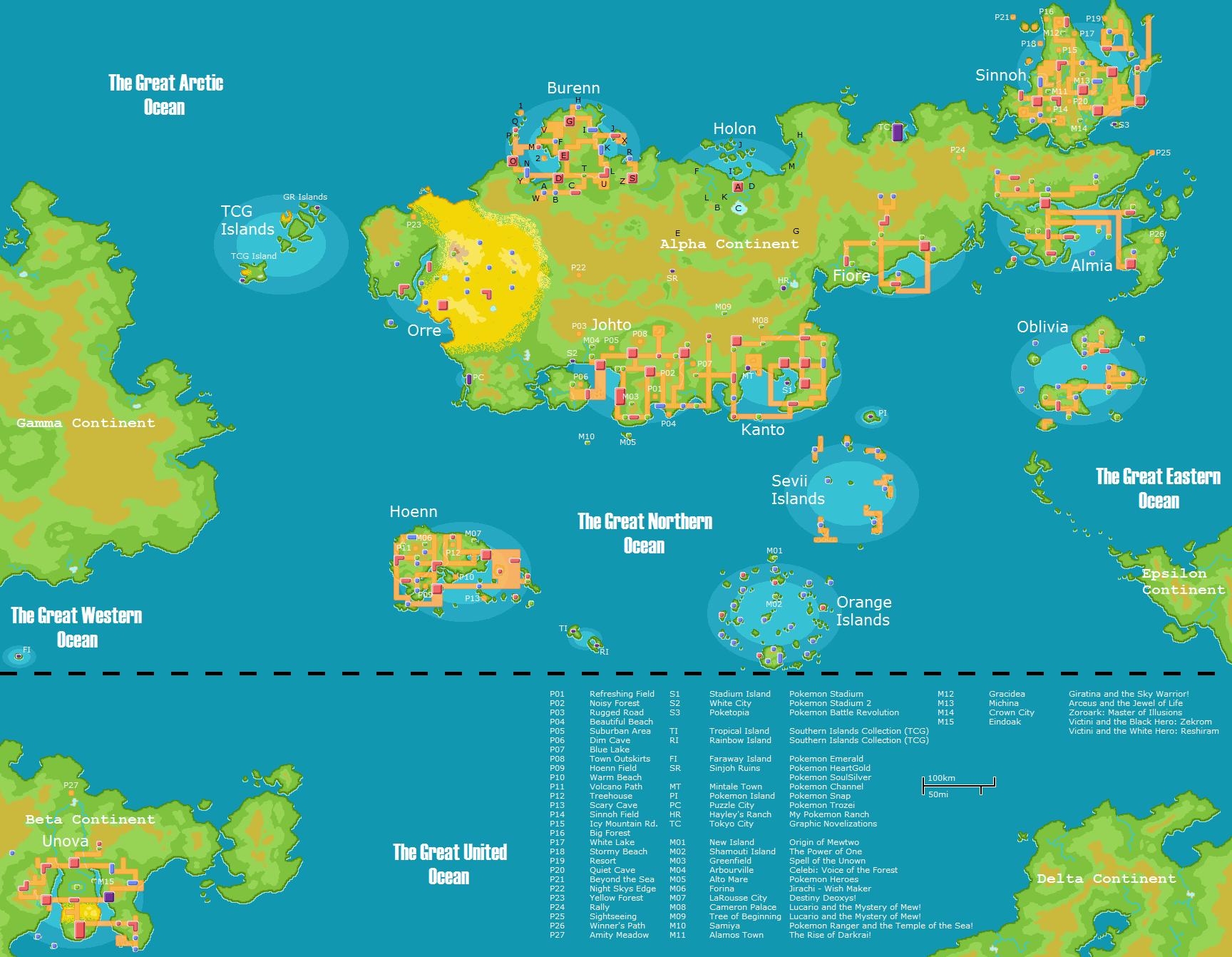 Pokemon World Map 2017.Map Of The Pokemon World World Map 07