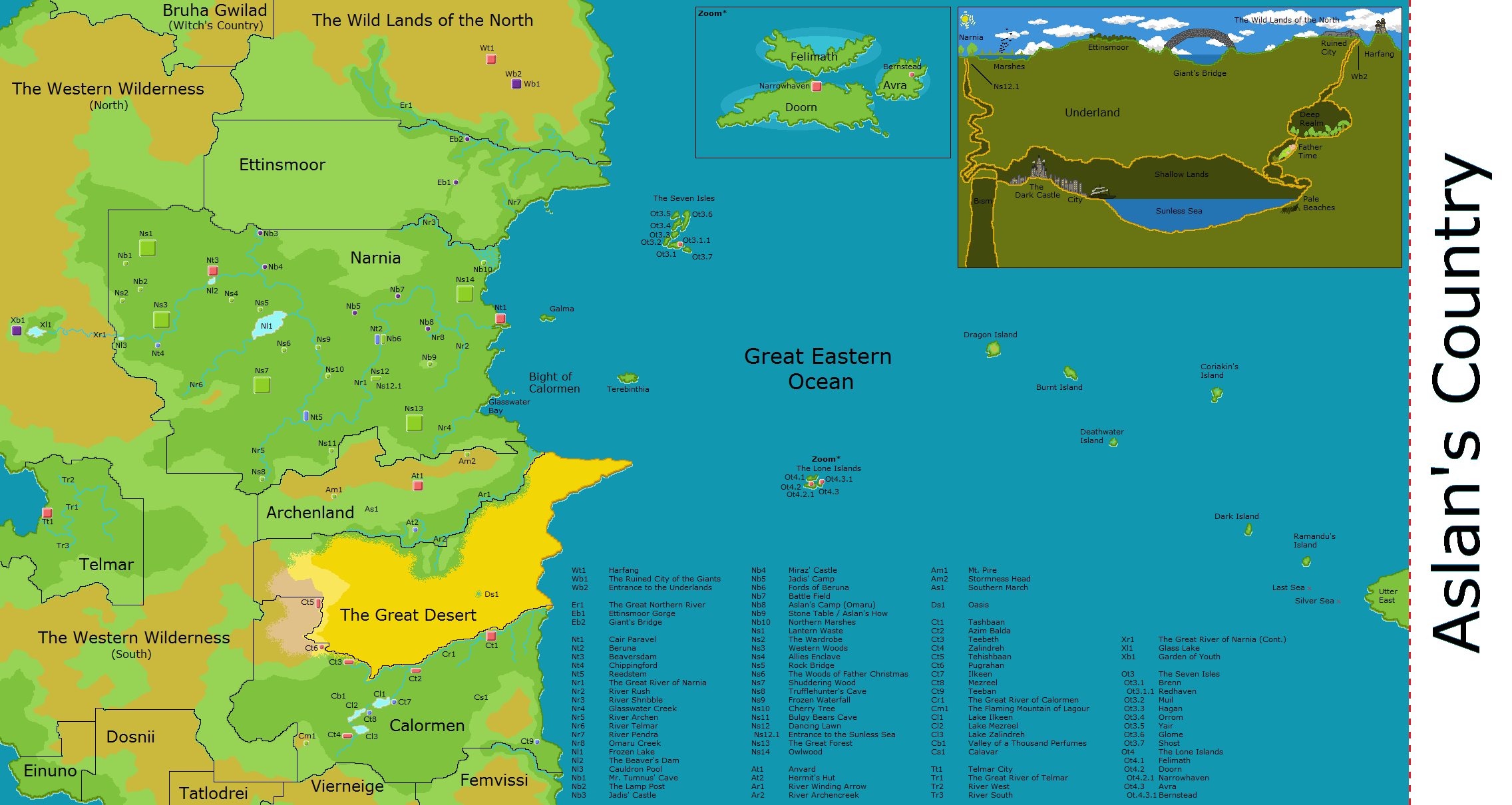 Complete Map of Narnia