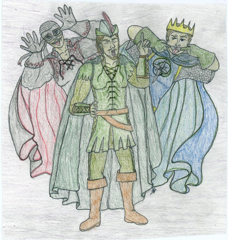 Robin Hood  King Arthur  Zorro by Hope-Star