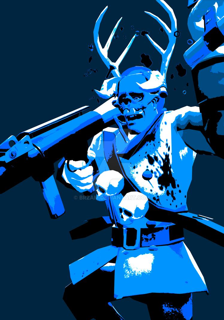 TF2 Blu Soldier by brz...