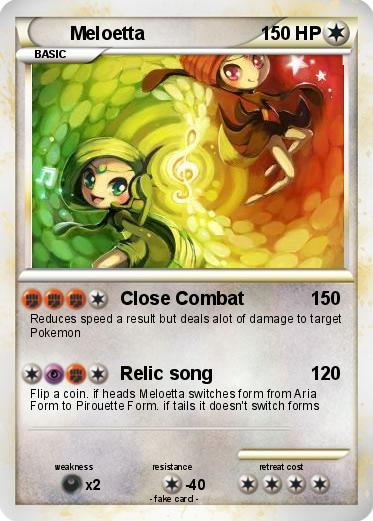 Meloetta Pokemon Card by lorddrega