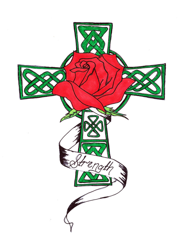 Celtic Cross with Rose