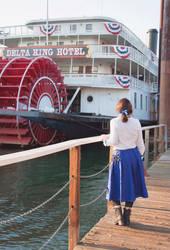 Elizabeth Bioshock Cosplay 2016-Riverboat Walk by anatlus89