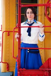 Elizabeth Bioshock Cosplay 2016-Colorful Train by anatlus89