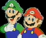 Mario and Luigi transparent