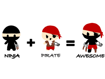 ninja pirate awesome by pixelbunny on deviantart