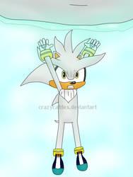 Silver The Hedgehog - Spirit Bomb! by CrazyCatDex