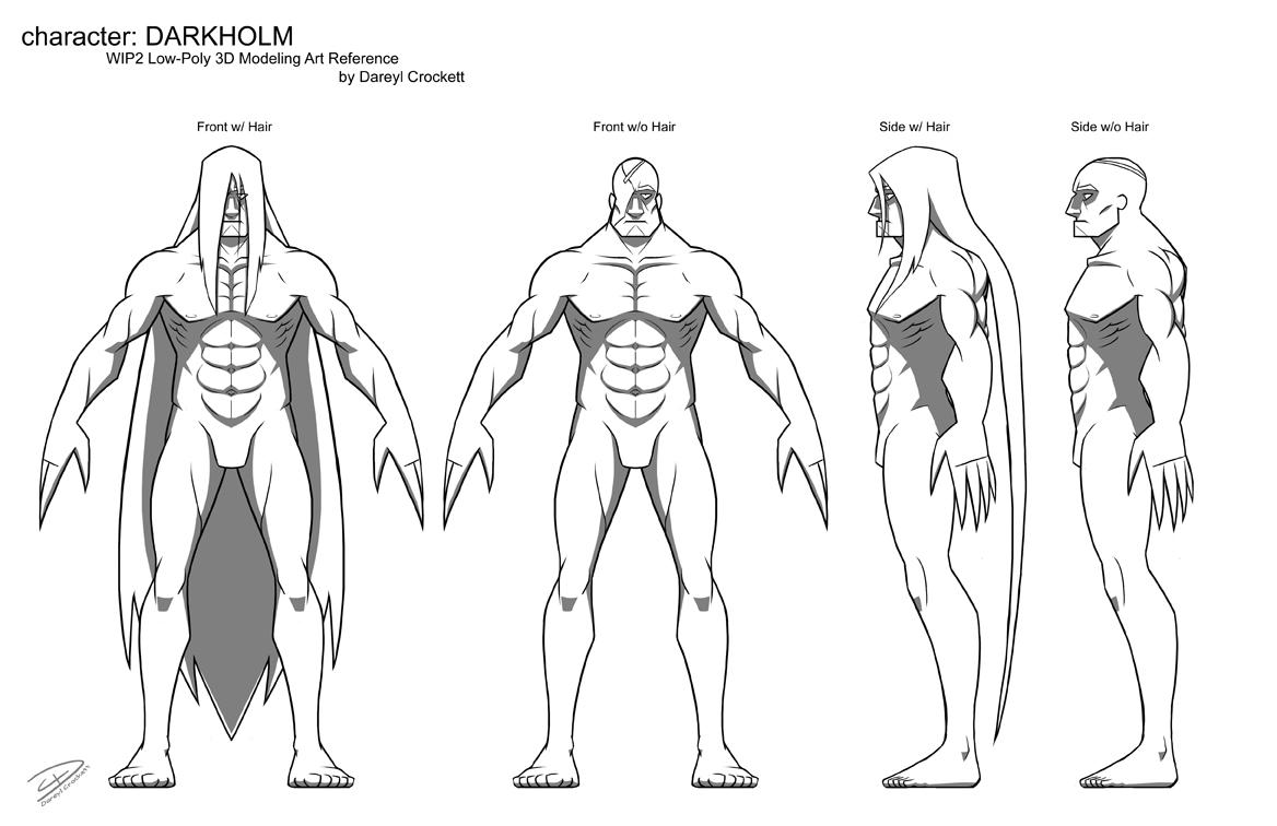 Darkholm - 3D Model Ref WIP1 by ideallyRANDOM