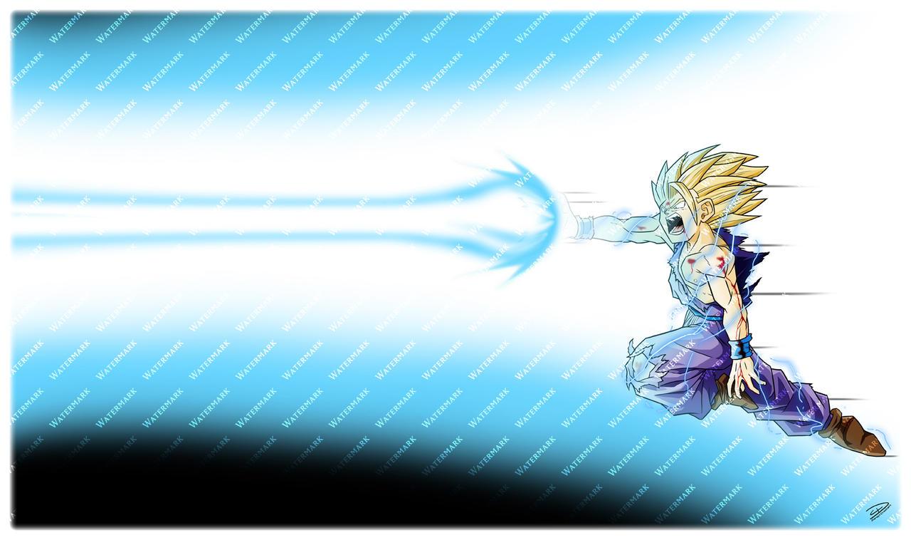 MatDesign: Gohan Kamehameha by ideallyRANDOM on DeviantArt