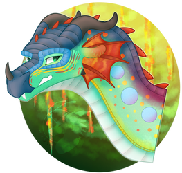 Headcanon Queen Glory Headshot | Wings of Fire by Owibyx