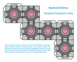Paper Companion Cube by Tripous