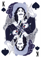 King of Spades - The Three Musketeers by karinyan