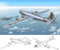 Enola gay B-29 bomber