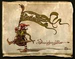 Sluaigh sidhe-bannerbearier